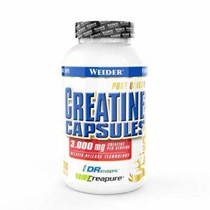 WEIDER capsules de créatine – Creapure créatine monohydrate 200 gélules, force et pouvoir