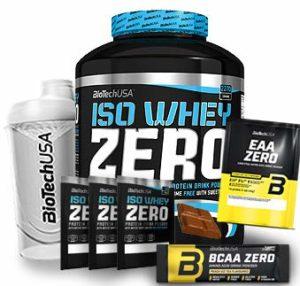 Biotech USA Iso Whey Zero (1 x 2.27 kg) + Shaker gratuits + Échantillons gratuits + acides aminés (Chocolate)