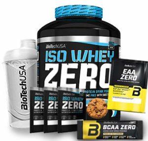 Biotech USA Iso Whey Zero (1 x 2.27 kg) + Shaker gratuits + Échantillons gratuits + Acides aminés (Cookies & Cream)