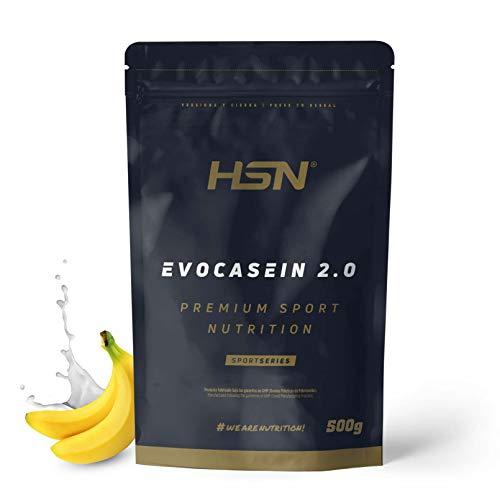 Caséine Micellaire de HSNsports – Evocasein 2.0 – Protéine pour Avant Dormir – Libération Prolongée pendant le soir – En Poudre – Saveur Banane – 500g