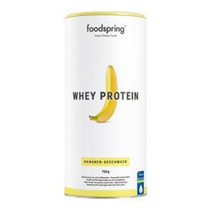foodspring Protéine Whey, Banane, 750g, Formule Whey pour un développement musculaire optimale, Fabriqué en Allemagne