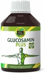 Glucosamine Plus – Aquisana + Collagène + Chondroïtine + MSM | Supplément de santéarticulaire | Os et cartilagesains | Sans allergène – 500 ml de glucosamine liquide