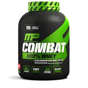 Muscle Pharm Combat 100% Whey Protein Mix – 1 pack – Muscle Gain – WPC WPI – Avec acides aminés BCAA (Strawberry, 2.27kg)