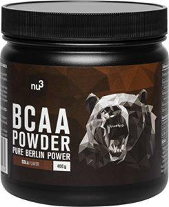 nu3 nu3 – BCAA Vegan En Poudre 400g Goût Cola – Acides Aminés Pendant l'Effort Sportif Pour La Récupération