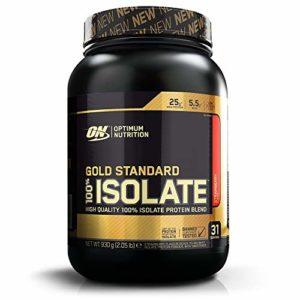 Optimum Nutrition 100% Isolate Gold Standard – Fraise, 31 Portions – Avec poudre de whey protéine isolate, 0,93 kg