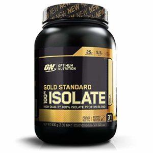 Optimum Nutrition 100% Isolate Gold Standard – Vanille, 31 Portions – Avec poudre de whey protéine isolate, 0,93 kg