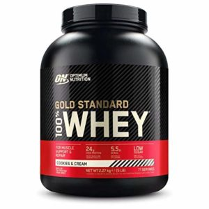 Optimum Nutrition 100% Whey Gold Standard, 5 LB Dose (Cookies & Cream)
