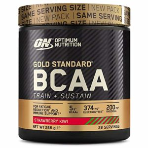 OPTIMUM NUTRITION ON GS BCAA Train & Sustain Fraise – Kiwi 266 g