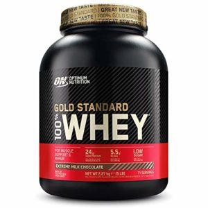 Optimum Nutrition Protéine 100% Whey Gold Standard Chocolat au Lait, 2,27 kg