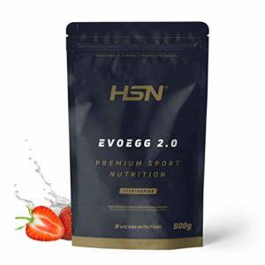 Protéine d'Oeuf de HSN | Evoegg 2.0 | 100% Albumine d'Oeuf en Poudre | Egg Protein | Idéal pour les personnes intolérantes au lactose et ovo-lactovégétariens|Sans Gluten| Saveur Chocolat, 500g