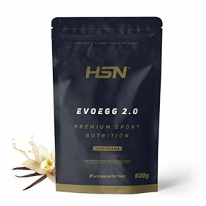 Protéine d'Oeuf de HSNsports | Evoegg 2.0 | 100% Albumine d'Oeuf en Poudre | Egg Protein | Idéal pour les personnes intolérantes au lactose et ovo-lactovégétariens |Sans Gluten | Saveur Vanille, 500g