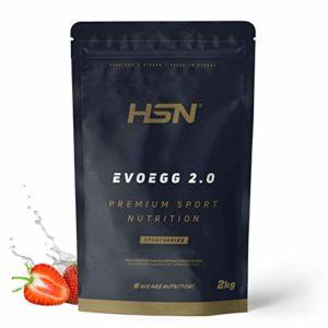 Protéine d'Oeuf de HSNsports | Evoegg 2.0 | 100% Albumine d'Oeuf en Poudre | Egg Protein | Idéal pour les personnes intolérantes au lactose et ovo-lactovégétariens | Sans Gluten | Saveur Fraise, 2kg