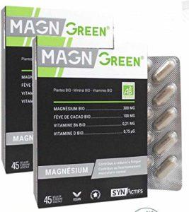 SYNActifs – MAGN Green Magnésium Marin – Complément alimentaire – Association du magnésium et de la vitamine B6 – Lot de 2 x 45 Gélules