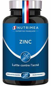 ZINC Citrate – Traitement de l'acné – Soutient le système immunitaire – 120 gélules végétales apportant 12.5 mg de Zinc élément (Zn) – Haute absorption – Fabriqué en France