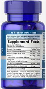 Zinc for acne 100 Comprimes
