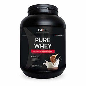 EAFIT Pure Whey – Croissance Musculaire – Protéines de Whey – Assimilation Rapide – Acides Aminés et des Enzymes Digestives – Complexe High Amino – Certifié Anti-Dopage
