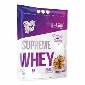 Iron Horse Supreme Whey Paquet de 1 x 2000g Concentré Isolat et Hydrolysat de Protéines de Lactosérum Microfiltrés Les Acides Aminés 66 Portions (Cookies)