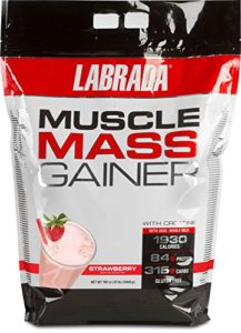 Labrada Muscle Mass Gainer Fraise Protéines Whey 12 lbs