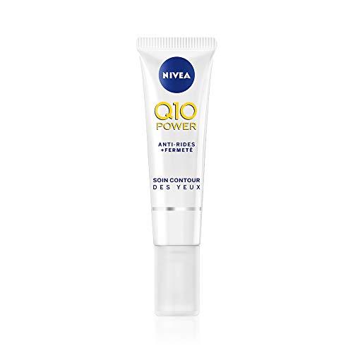 NIVEA Q10 Power Soin Contour des Yeux Anti-Rides +Fermeté (1×15 ml), crème anti-âge enrichie en Q10 avec 10X plus de créatine, crème hydratante, soin visage femme