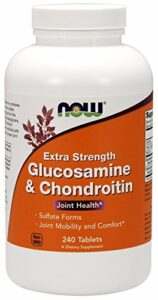 Now 750/600 mg Glucosamine Et Chondroïtine 240 Comprimés