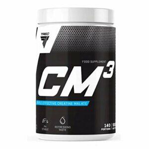 Trec Nutrition CM3 Powder Paquet de 1 x 500g – Malate TriCreatine – 95% Sans Additifs Force – Musculaire et Renforcement – Créatine Supplément – Force et Endurance (Pineapple)