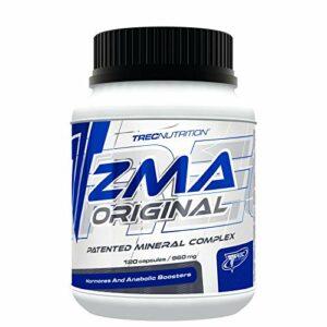 Trec Nutrition ZMA ORIGINAL – Booster de testostérone anabolique – Sleep Aid Recovery – Complément alimentaire (120 gélules)