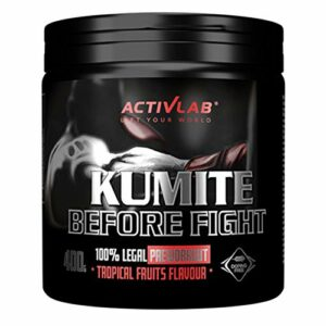 Activlab Kumite Paquet de 1 x 400g – Pré-Entraînement – Acide Aminé – Beta Alanine – Créatine et Citrulline – AAKG – Taurine – Caféine – Vitamines et Minéraux (Tropical Fruits)