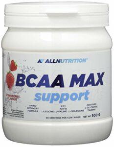 All Nutrition Bcaa Max Support Protéines Glucides Complexe Entraînement Musculation Poudre Fraise