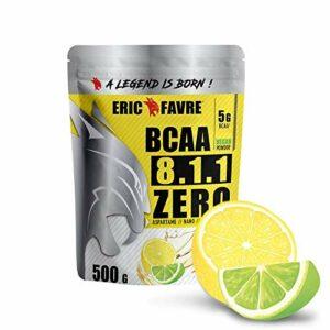 BCAA 8.1.1 Zero Vegan |Performance & Ultra Endurance – Conçu Pour Développement & Entretien Musculaire – | Formule Unique | 750 gr – Laboratoire Français Eric Favre (Citron/Citron vert)