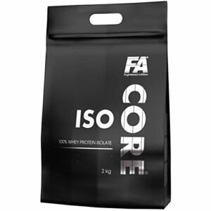 Fitness Authority IsoCore Paquet de 1 x 2000g Isolat de Protéines de Lactosérum Les Acides Aminés BCAA Glutamine Arginine Renforcement Musculaire (Vanilla)