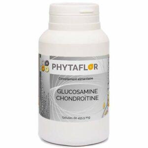 Glucosamine & Chondroïtine PHYTAFLOR. – boîte : 150 gélules