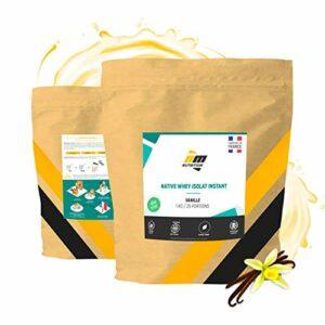 Native Whey Isolat • Arôme Vanille • 95% de protéines • Fabriquée en France • AM Nutrition