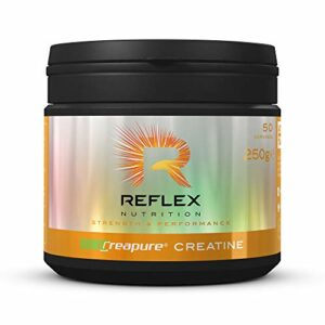Reflex Nutrition Poudre de Créatine Creapure Monohydrate   Convient aux Végétaliens – 250 g (250g)