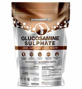 1500 mg de sulfate de glucosamine 2KCL + vitamine C (Force maximale 180 comprimés – approvisionnement de 6 mois)
