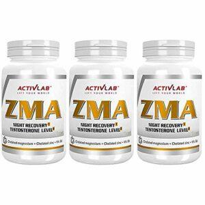 ACTIVLAB ZMA | Supplément de rappel de testostérone | Croissance de la masse musculaire | Meilleur sommeil et récupération | Zinc | Magnésium | Vitamine B6 | Minéral anabolisant (270 gélules)