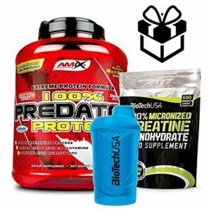 AMIX Predator Protein – 2 kg Platane + Creatine + mélangeur