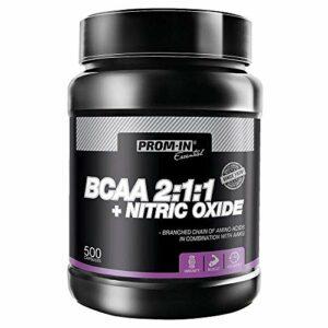 BCAA 2:1:1 + NITRIC OXIDE – Convient aux athlètes ayant une activité physique accrue | Protège les muscles contre les blessures et favorise la croissance musculaire (500 gélules)