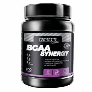 BCAA SYNERGY par PROM-IN – Combinaison en poudre spécifique d'acides aminés clés enrichis en vitamine B6 pour construire et réparer les muscles (Orange, 550 g)