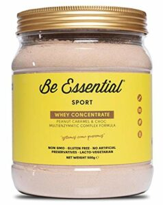 Be Essential Whey Concentré Saveur Peanut, Caramel et Chocolat 500 g