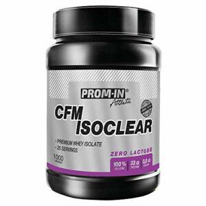 CFM ISOCLEAR whey isolate par PROM-IN – Isolat de lactosérum produit en utilisant la technologie CFM (Chocolat, 1000 g)