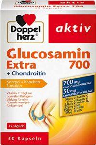 Double coeur Glucosamine 700 Extra + Chondroïtine, 30 gélules, 2 pièces (2 x 30 gélules)