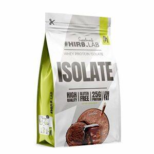 Hiro.Lab Whey Protein Isolate – 1 pack x 700g – Gain de masse musculaire maigre – Faible en gras – Source riche en protéines – Sans colorants artificiels – Sans gluten (Chocolat)