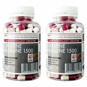 MEGABOL CREATINE ALKALINE | Monohydrate de créatine tamponnée | Pilules anabolisantes pour la croissance de la masse musculaire (240 gélules)