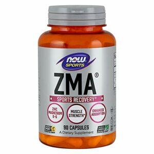 NOW ZMA 90 Capsules   Mineral Anabolic   Booster de testostérone   Soutien hormonal naturel pour la croissance de la masse musculair