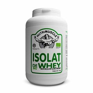 Nutrimuscle – Isolat De Whey Native Biologique bacillus-lactase – 1 kg