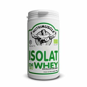 Nutrimuscle – Isolat De Whey Native Biologique bacillus-lactase – 500 g
