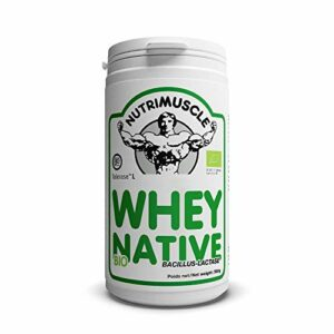 Nutrimuscle – Whey Native Biologique Bacillus-Lactase – 500 g