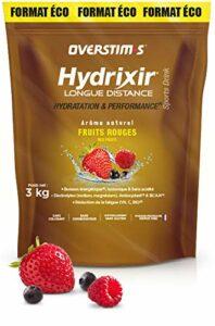 OVERSTIM.s – Hydrixir Longue distance (3kg) – Fruits Rouges– Boisson énergétique pour le sport – Protéines, BCAA et Electrolytes – Arômes naturels – sans conservateur.