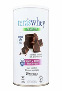 Tera's Whey Protein – Fair Trade Dark Chocolate – 24 Ounce
