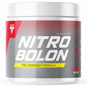 Trec Nutrition Nitrobolon Paquet de 1 x 300g – Pre Workout Formula – Créatine – Taurine – Arginine – Glutamine – Citrulline – Supplément d'Acides Aminés (Orange)